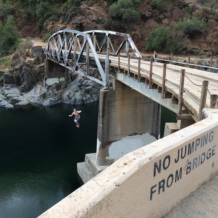 Bridge, Jumping, Rule Breaking