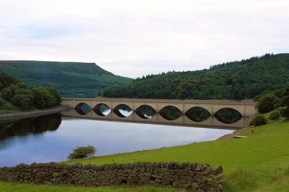 Peak District, Reservoir, Ladybower Reservoir, Bridge