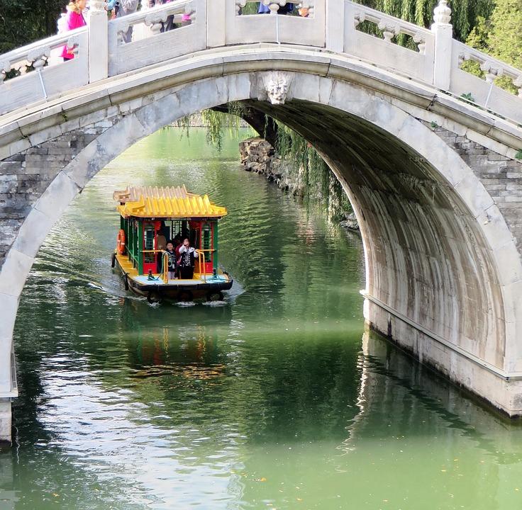 China, Beijing, Pekin, Summer Palace, Lake, Bridge