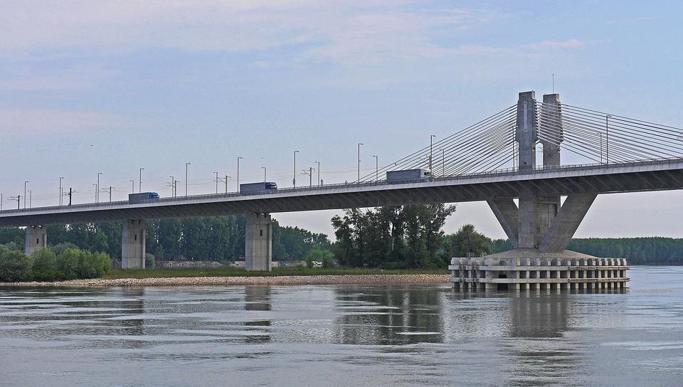 Bridge New Europe, Romania, Bulgaria, Danube, Underflow