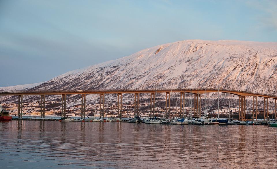 Norway, Tromso, Bridge, Fjord
