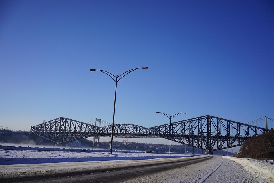 Suspension Bridge, Bridge, Quebec, Winter