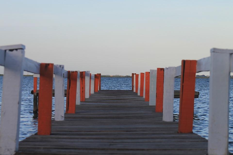 Bridge, Rio, Lake, Eventide, By Sunsets, Nature