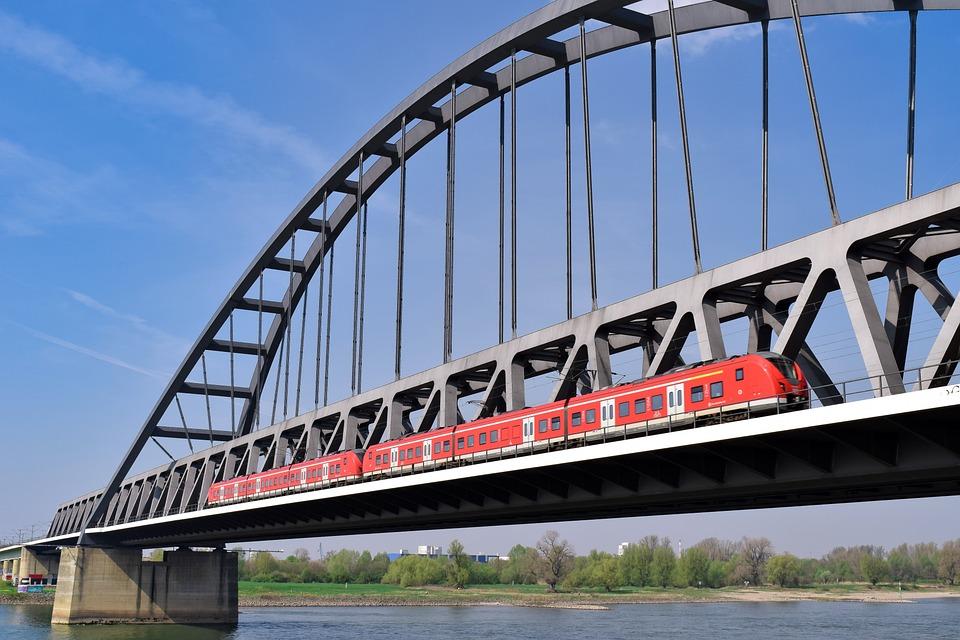 Bridge, Drawbridge, River, Architecture, Water, Rhine