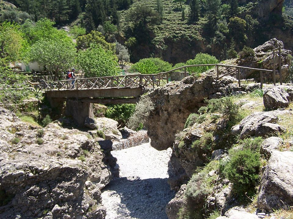 Crete, Bridge, Samaria Gorge