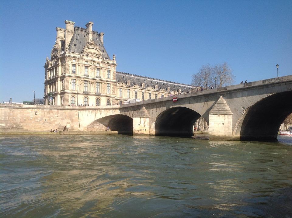 Paris, River, Seine, Bridge