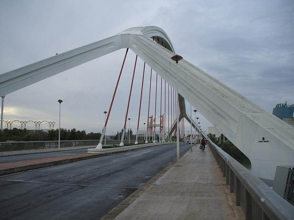 Bridge, Seville, City, Architecture, Spain, Andalusia
