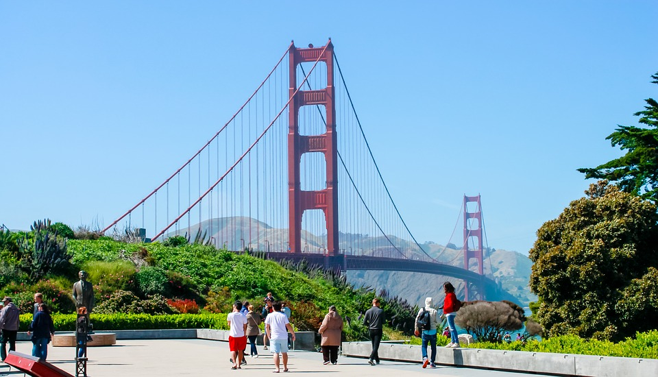 Golden Gate Bridge, Sf, Ca, Bridge, California