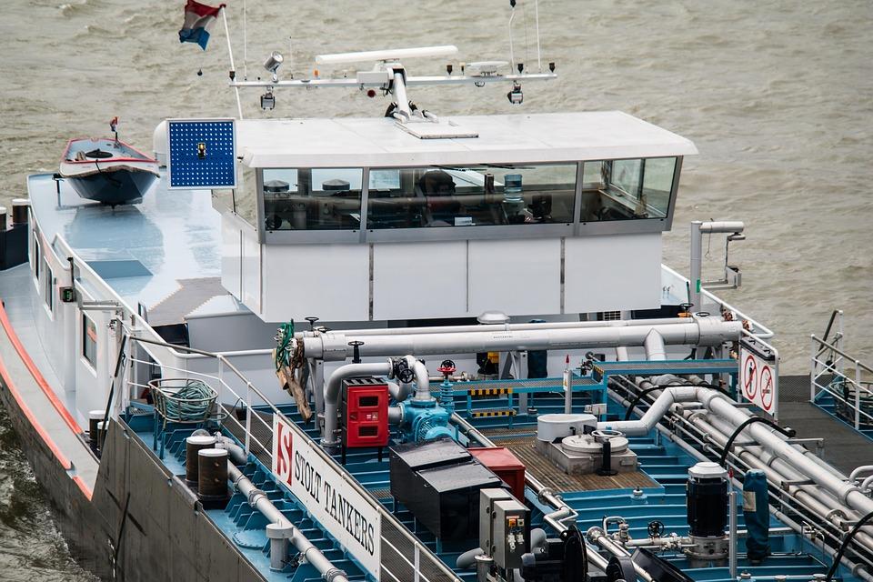 Ship, Rhine, Bridge, Command Center, River, Rhine Ship