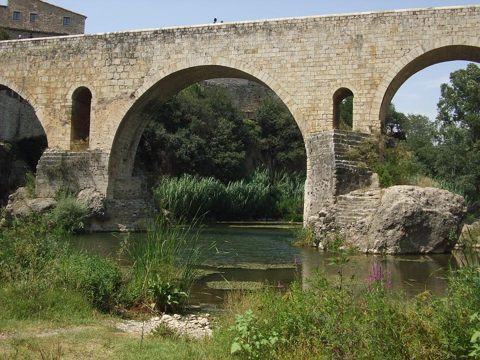 Besalú, Bridge, Catalonia, Spain