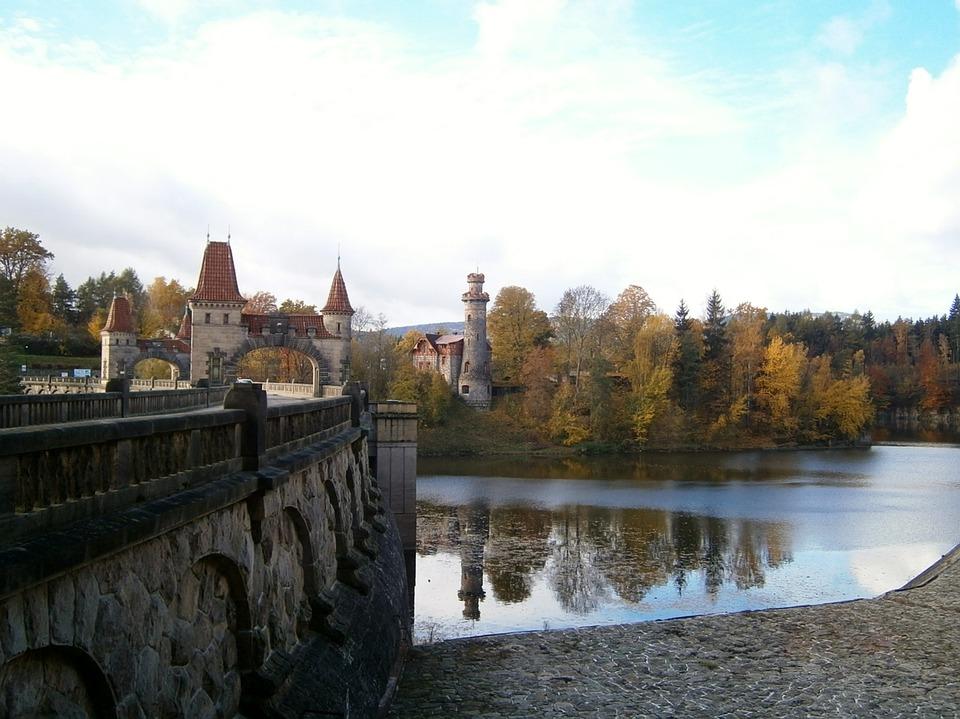 Dam, Water, Story, Kingdom, Towers, Bridge, Autumn