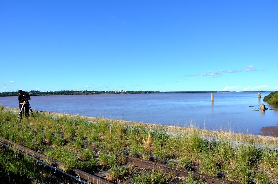 Uruguay River, Rio, Bridge, Nature, Pond, Landscape