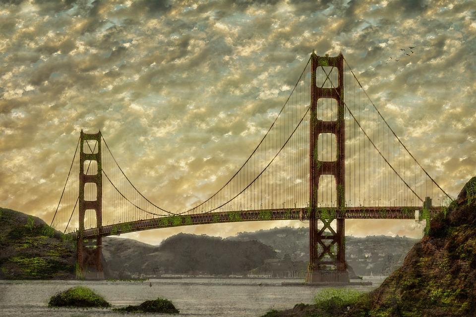 Bridge, Suspension Bridge, Suspension, Water