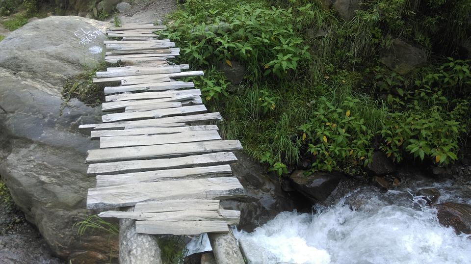 Bridge, Wooden, Stones, Tourism, Vacation, Scenery