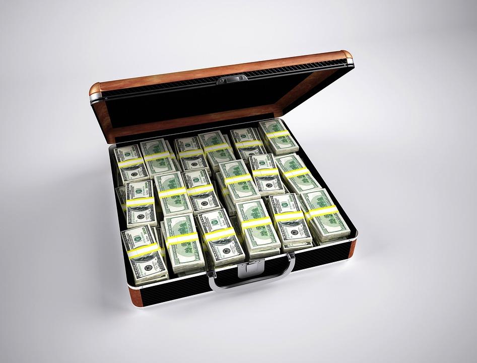 Money, Finance, Wealth, Currency, Dollar, Briefcase