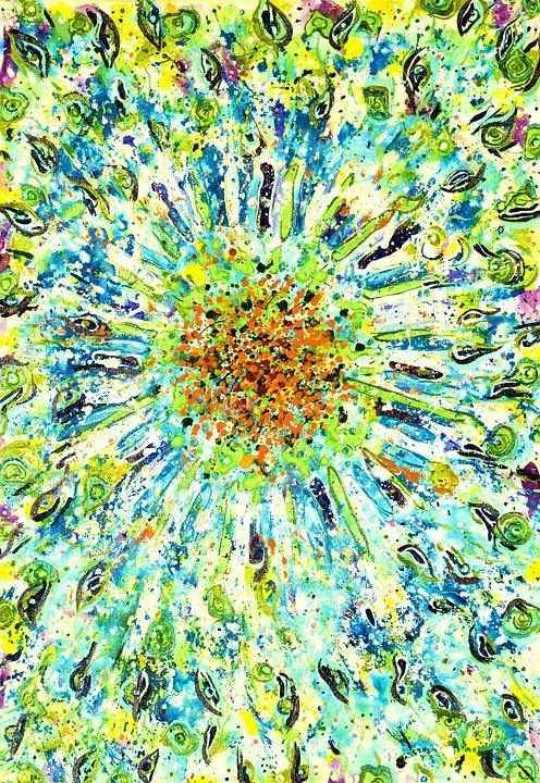 Colorful, Design, Acrylic, Canvas, Artwork, Bright