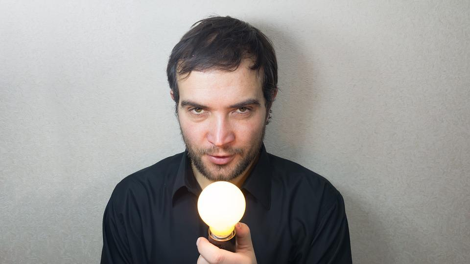 Idea, Concept, Lightbulb, Bright, Burns, Man, Beautiful