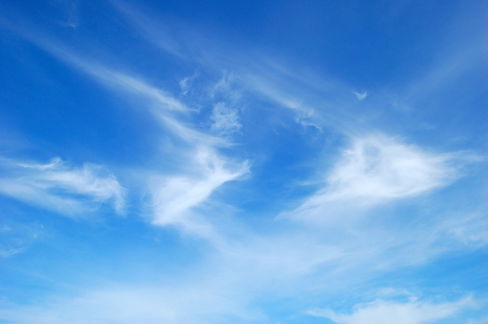 Blue Sky, Clouds, Sky, Blue, Federwolke, Bright