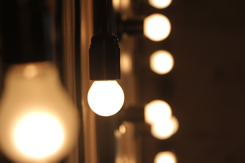 Light Bulbs, Illuminated, Light, Blur, Bokeh, Bright