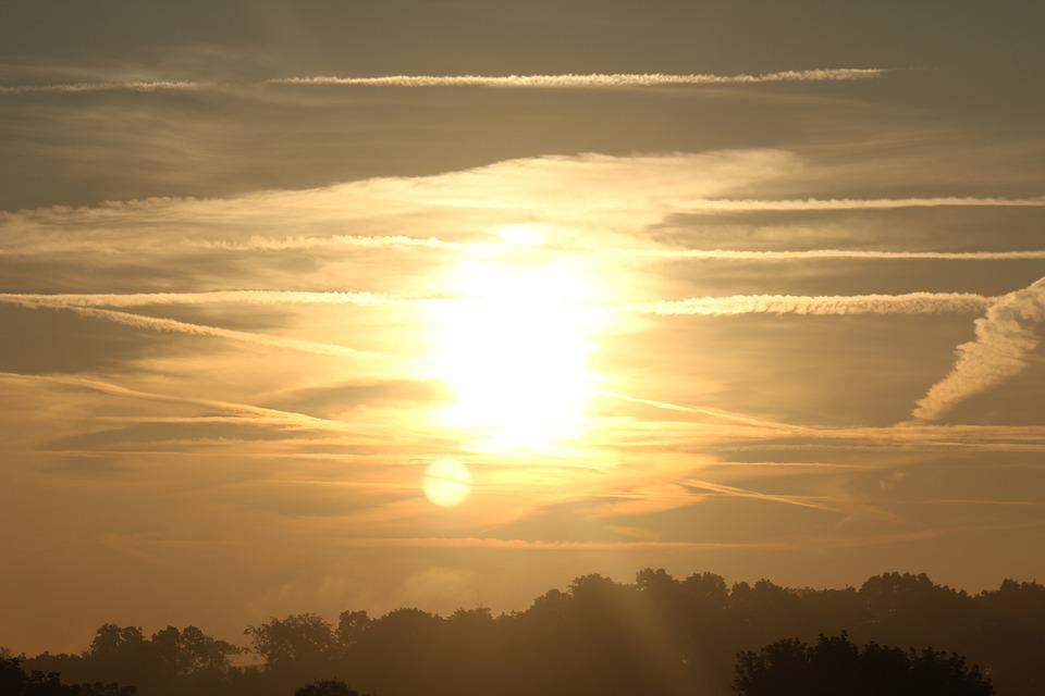 Sunrise, Clouds, Bright, Sun, Morning, Ohio