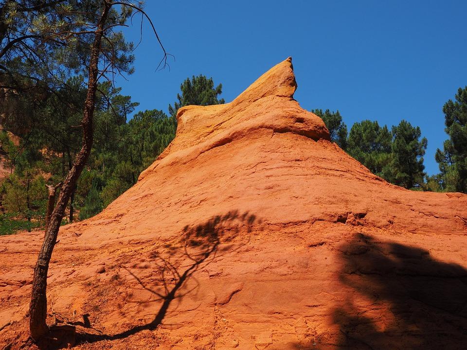 Ocher Rocks, Rock, Ocher, Ocher Quarry, Color, Bright