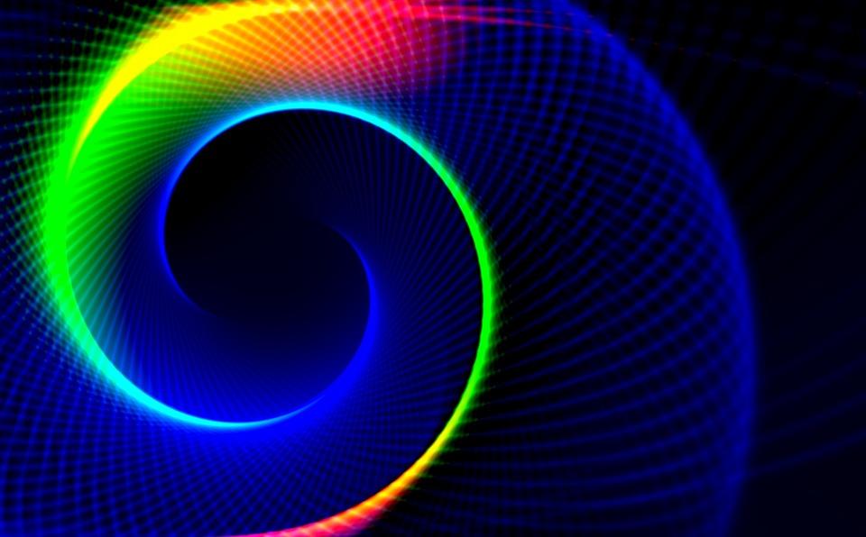Spiral, Arch, Swing, Slightly, Bright, Space