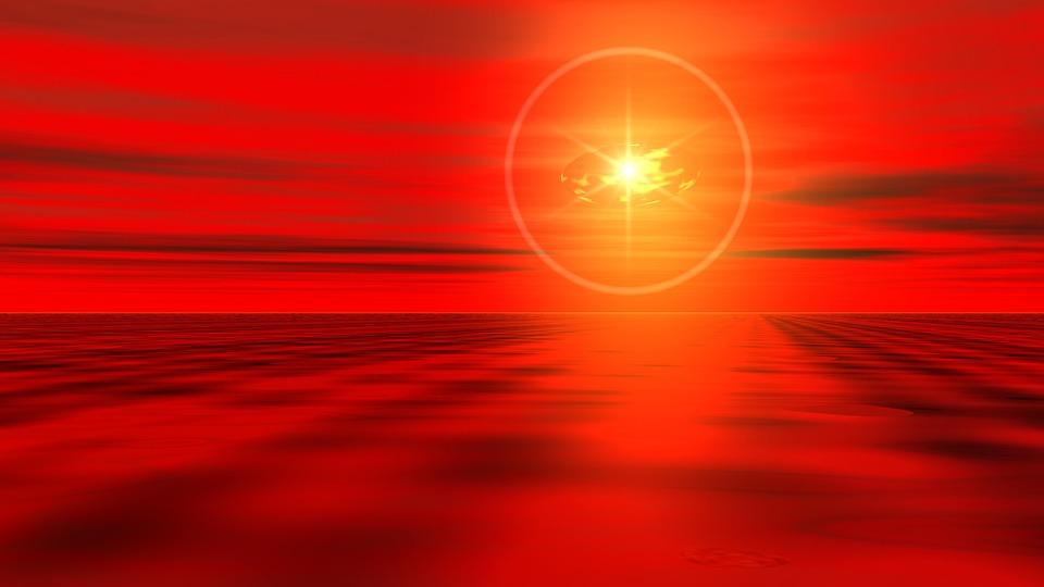 Bright, Sun, Sunset, Abstract, Shining, Horizon