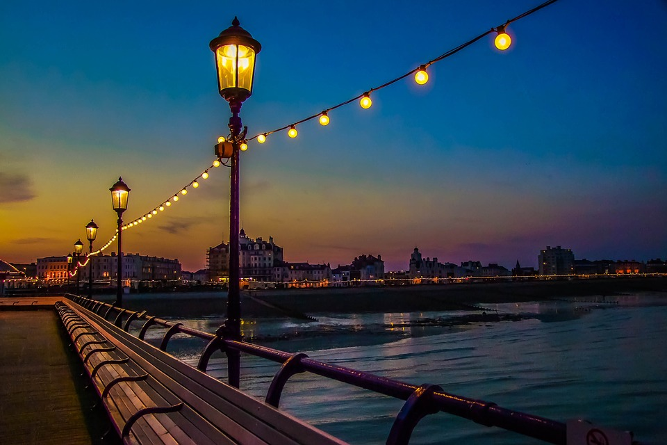 Brighton Pier, Night, Ocean