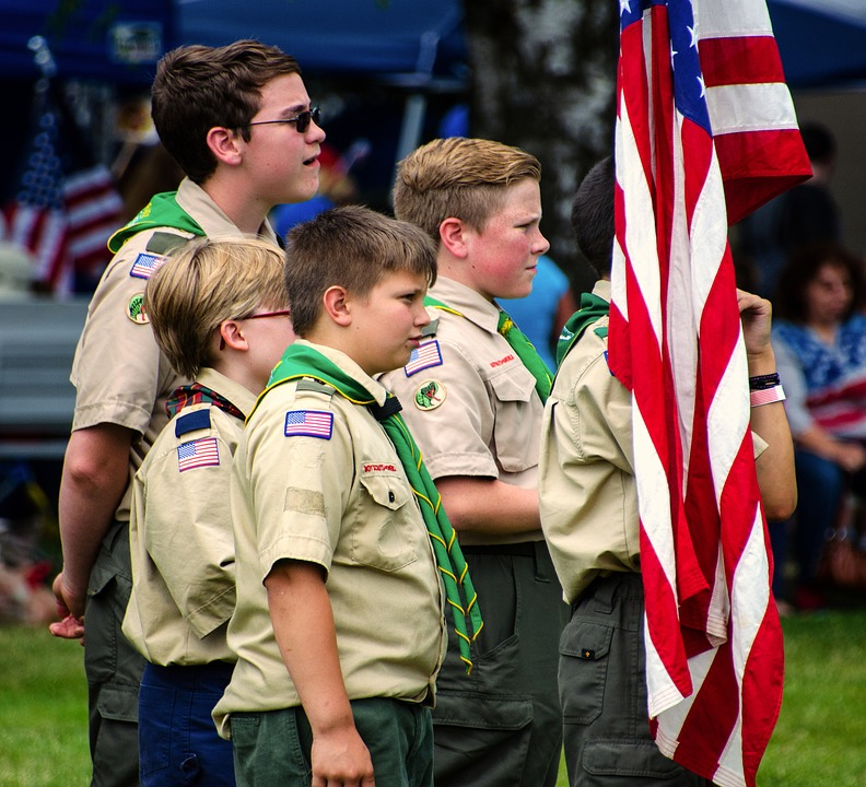 Usa Scouts, Bringing In The Flag, 4th Of July
