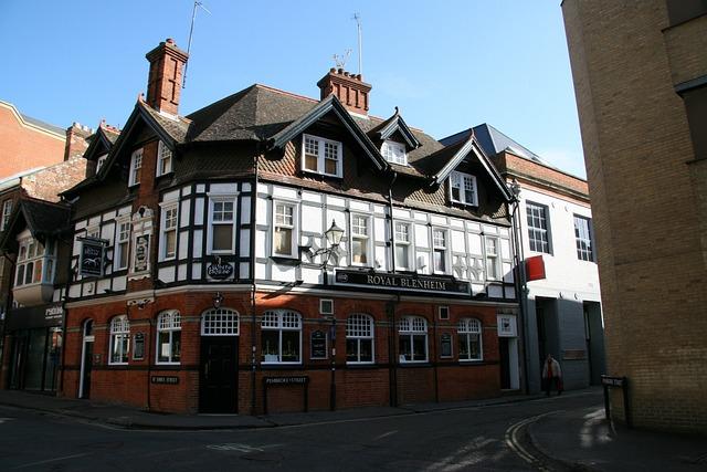 Oxford, Pub, England, Urban, House, Britain, Cambridge