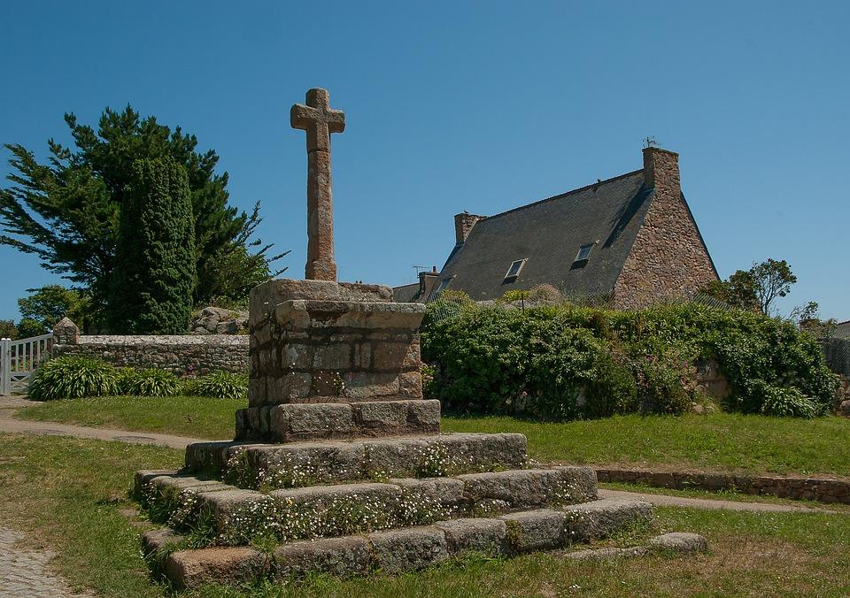 Brittany, Brehat Island, Calvary, Cross, Granite