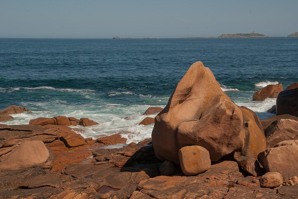 Brittany, Perros Guirec, Side, Granite, Rocks