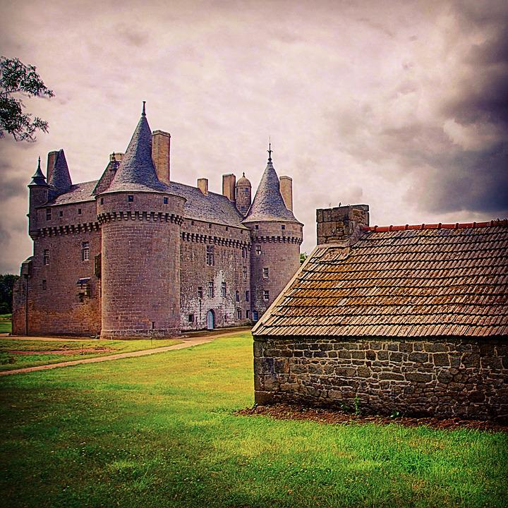 Brittany, Finistère, France, Castle, House, Hut