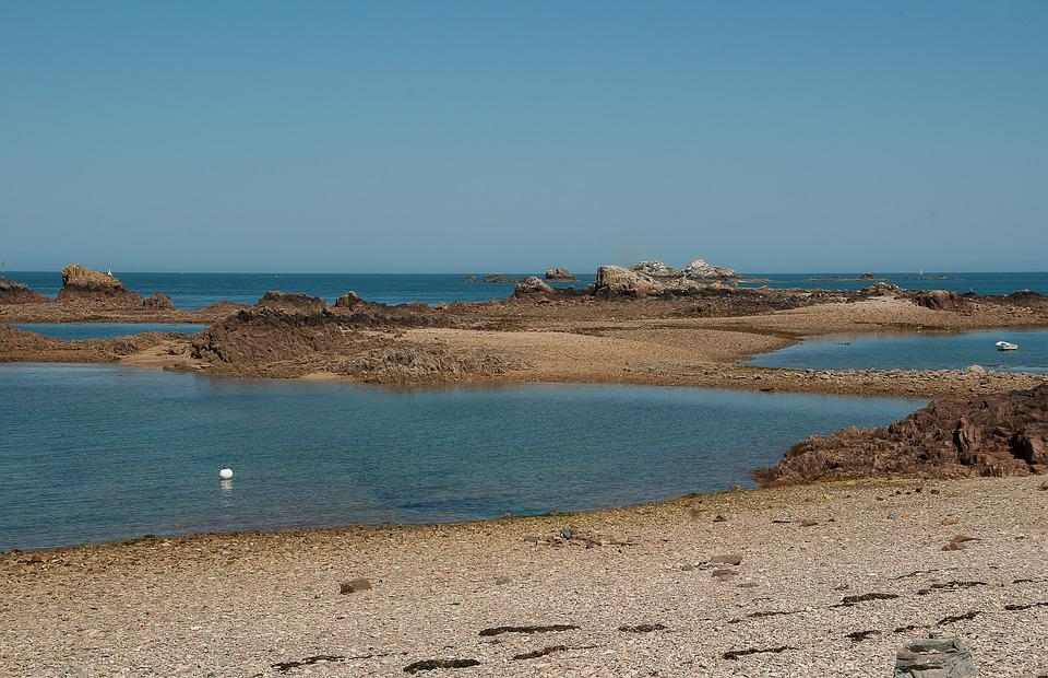 Brittany, Low Tide, Bréhat, Rocky Island, Beach