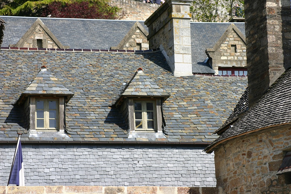 Mont Saint Michel, Brittany, Roofs