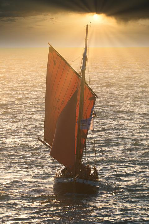 Old Rig, Sunset, Brittany Sailing Sun Dahouët
