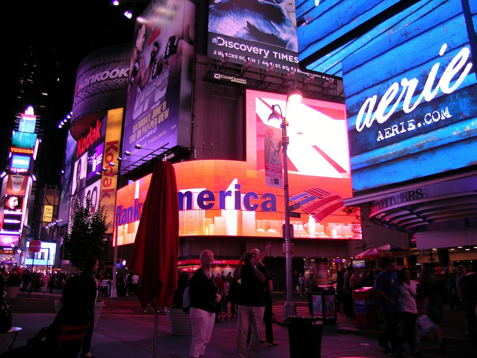 Broadway, New York, Time Square, Manhattan, Nigh