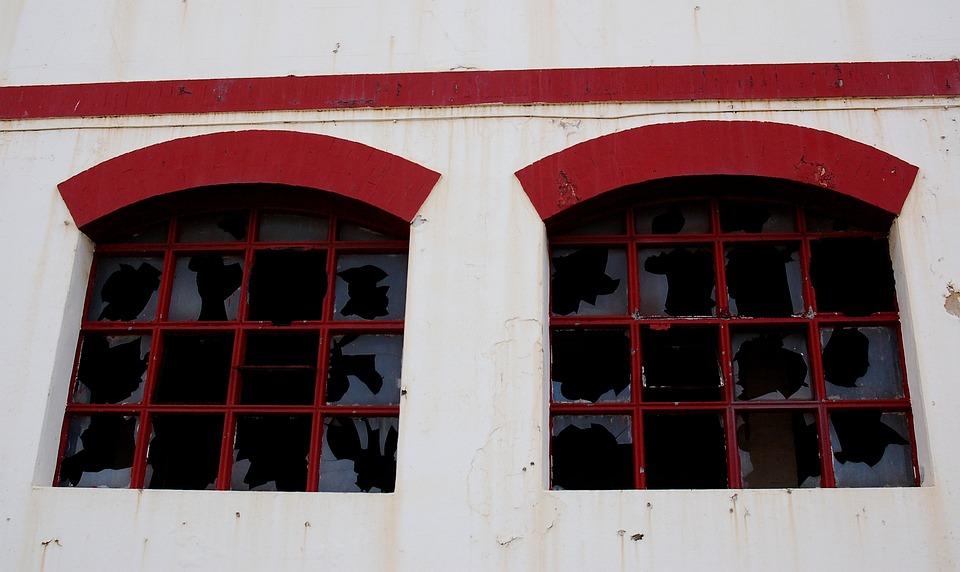 Windows, Broken, Glasses, Broken Glass