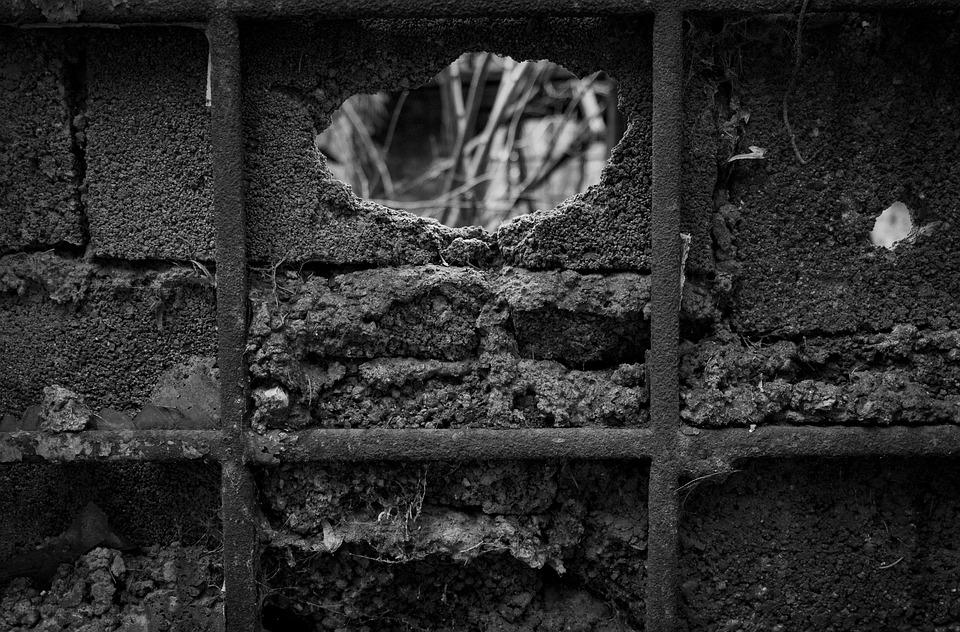 Old, Abandoned, Darkness, Wall, Dirty, Broken