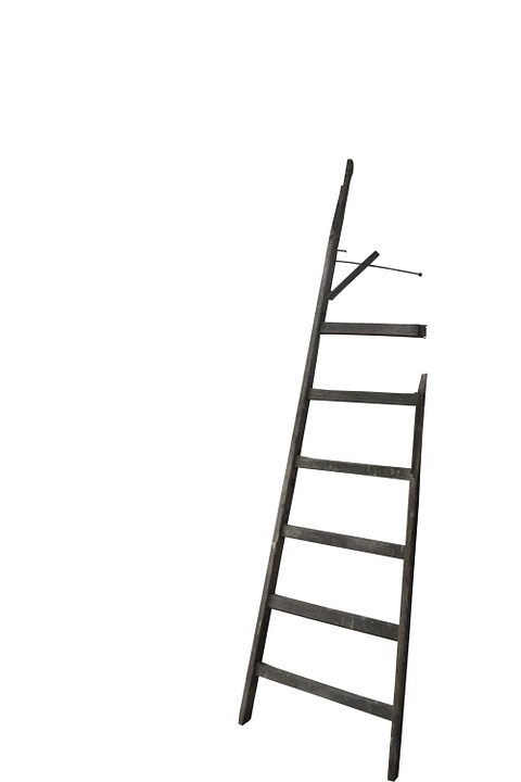 Head, Wood, Broken, Isolated, Wooden Ladder