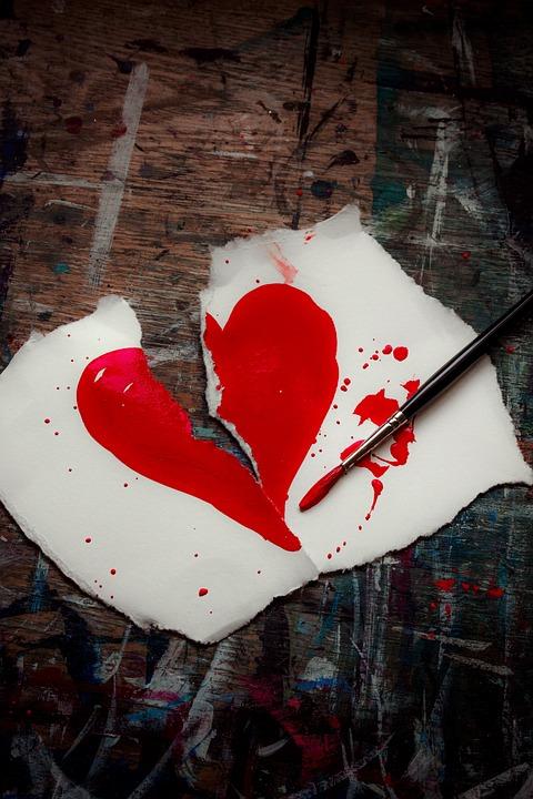 Free Photo Broken Heart Valentine Broken Heart Red Love Max Pixel
