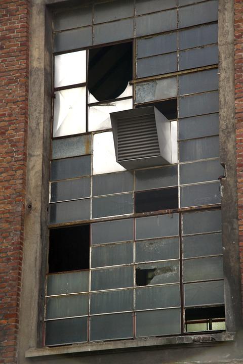 Window, Broken, Shard, Old, Ruin