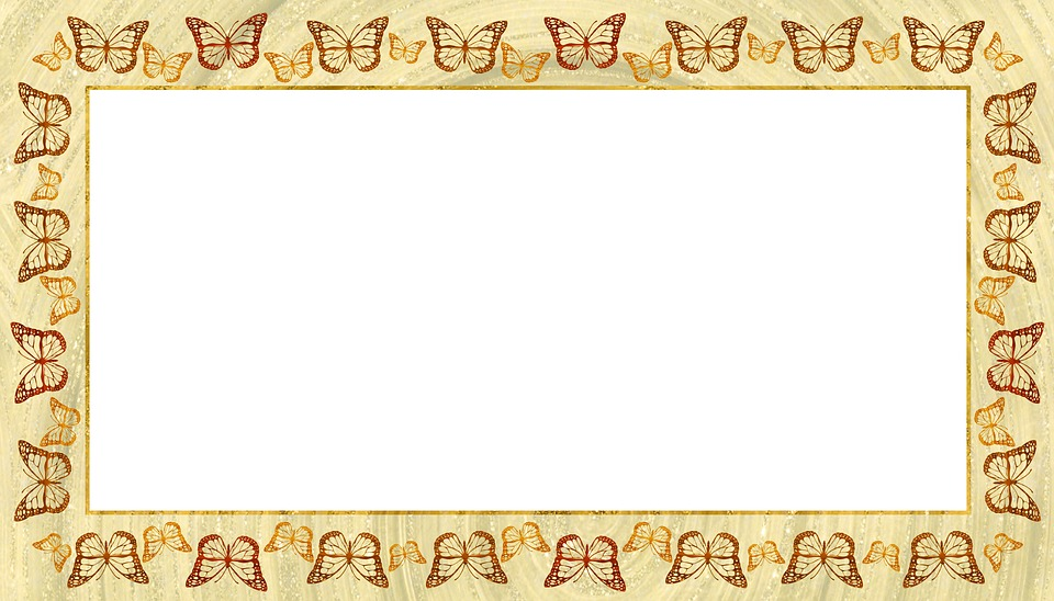 Free photo Bronze Gold Butterfly Copper Picture Frame - Max Pixel
