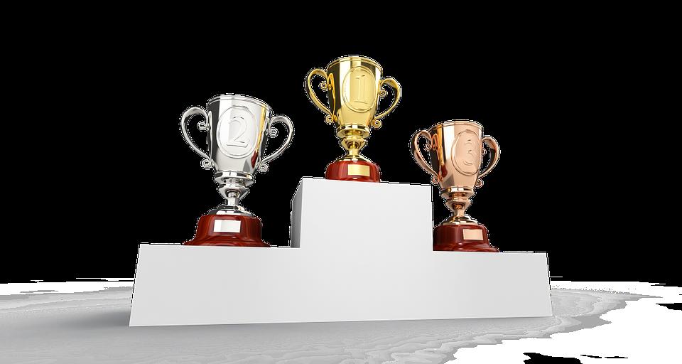 Cup, Podium, Trophy, Gold, Golden, Silver, Bronze