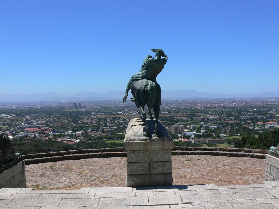 Bronze, Statue, Cape Town, South Africa, Man And Horse