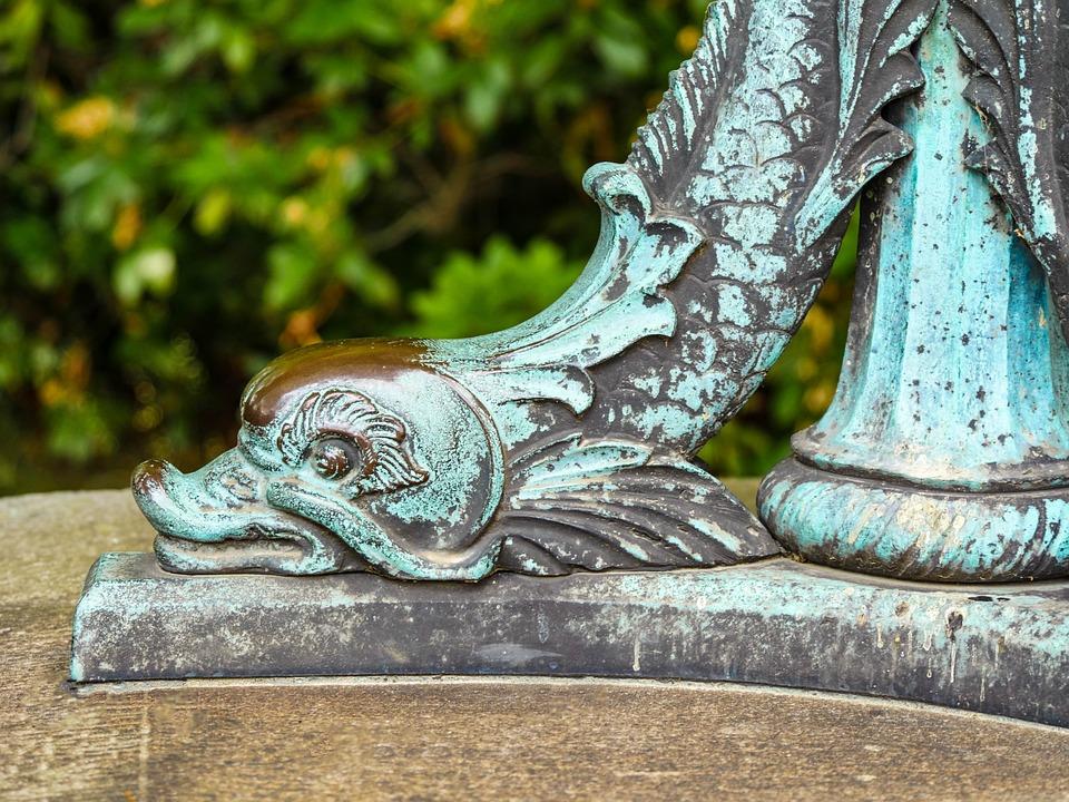 Fish, Statue, Sculpture, Metal, Copper, Brass, Bronze