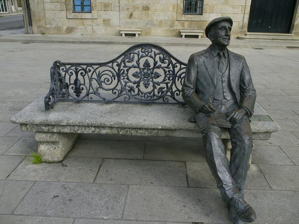 Sculpture, Bronze, Orense, Spain, Male, The Person