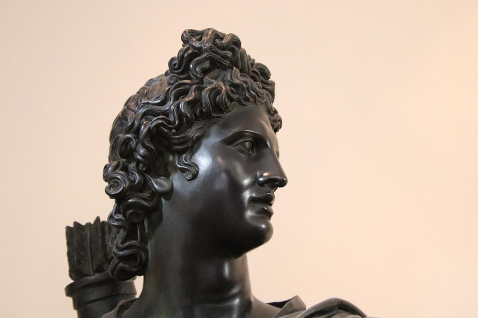 Sculpture, Bronze, Bronze Black, Man, Young, Statue