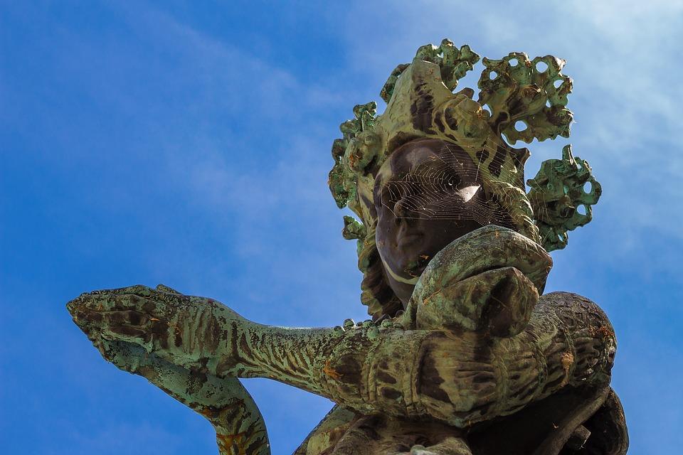Bronze Statue, Woman, Sculpture, Bronze, Artwork