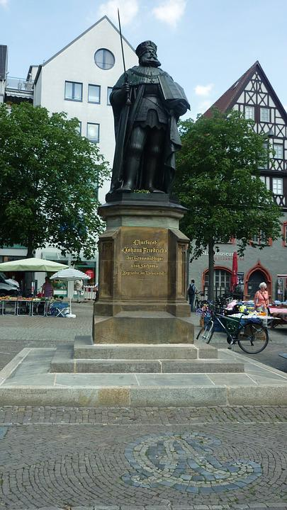 Hanfried, Thuringian Monument, Bronze Statue
